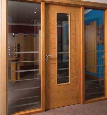 Internal Door of office with glass
