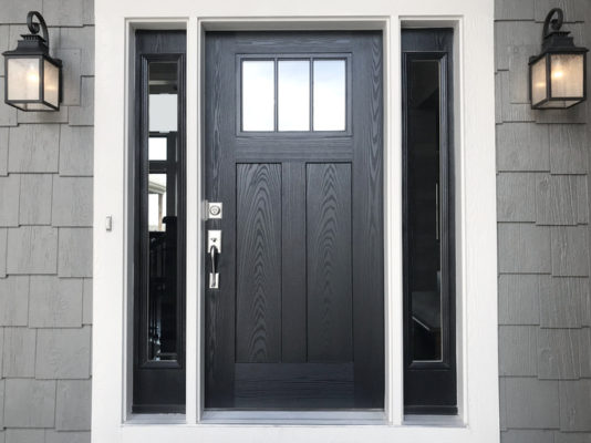 modern Black composite front door