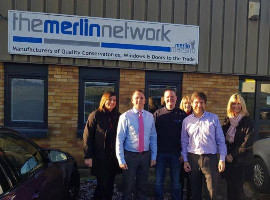The McLeod's team meeting suppliers Merlin Network Ltd