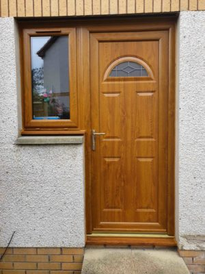 New wooden front door