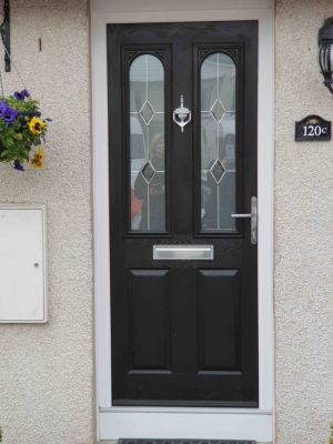 New black front door