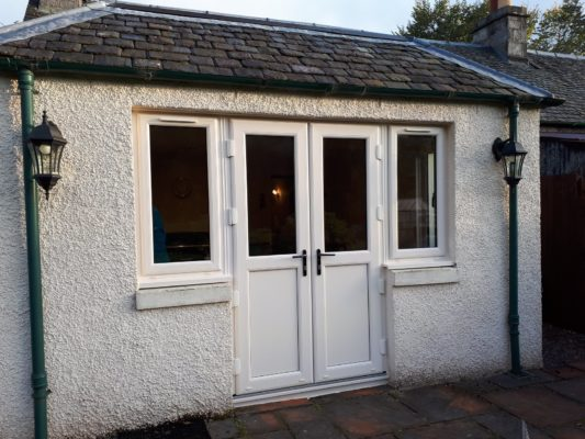New doors and windows, Pitlochry