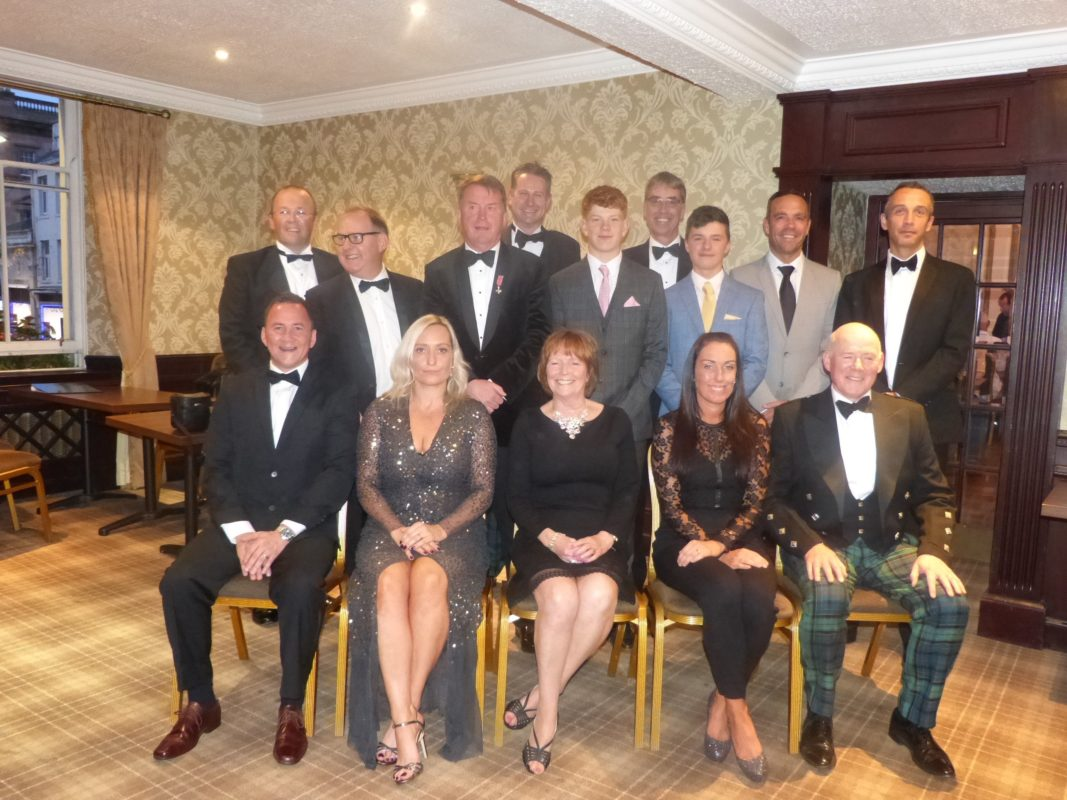Barrie Douglas Foundation sporting dinner 2019 top of table