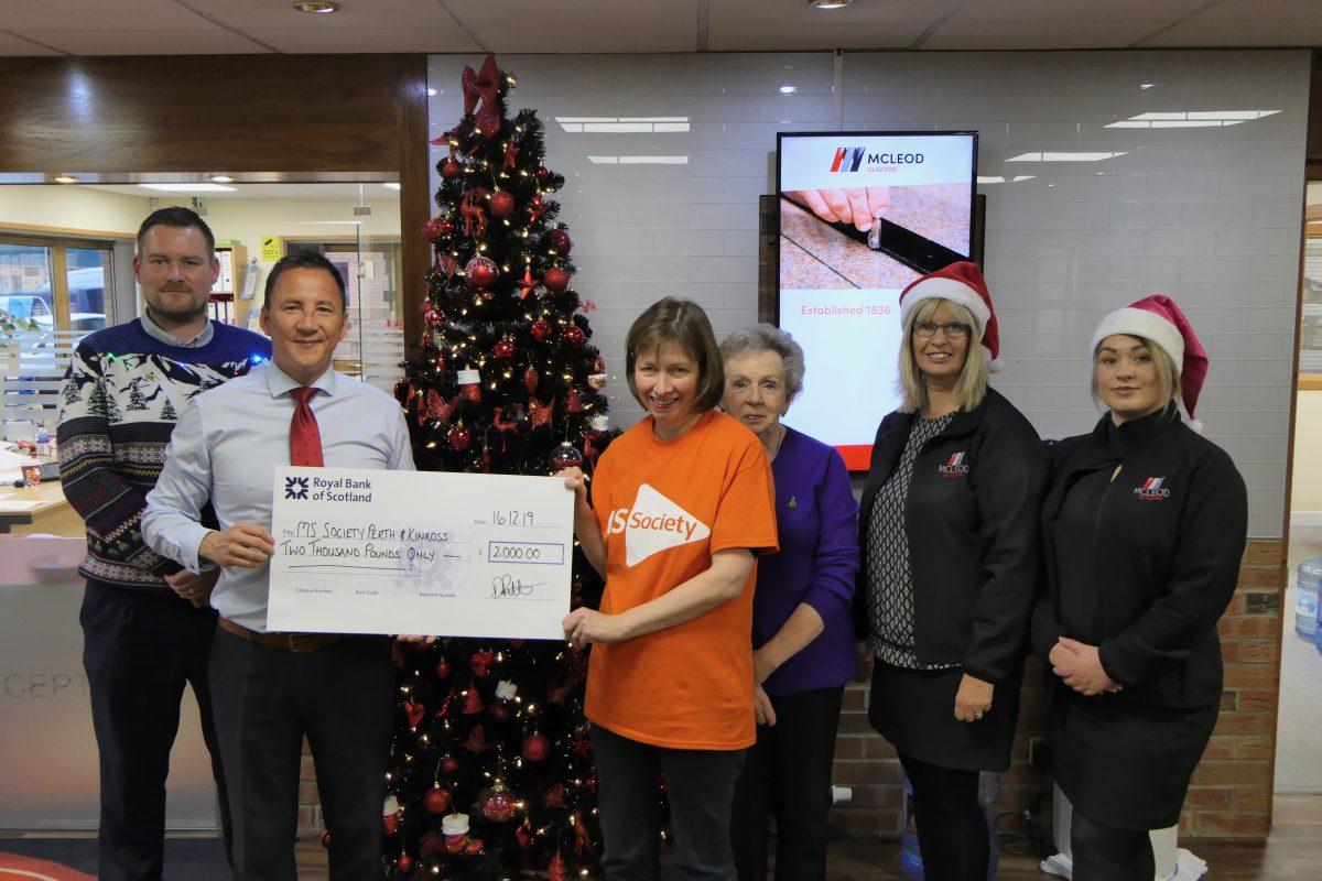 £2,000 raised for MS Society Scotland