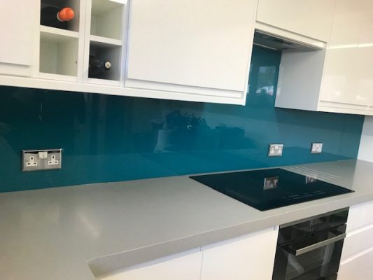 Blue Glass Splashback